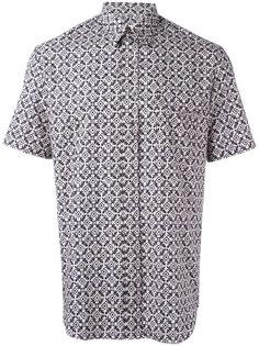 рубашка с узором и короткими рукавами Maison Margiela