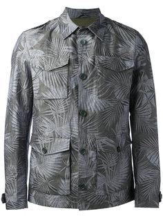 куртка-рубашка с лиственным принтом Herno