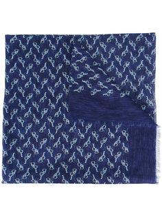 шарф с принтом очков Canali