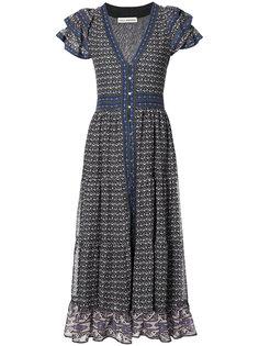 расклешенное платье на пуговицах спереди Ulla Johnson