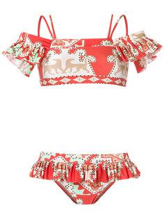 off shoulder printed bikini set Adriana Degreas