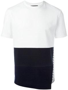 футболка с полосатым принтом на спине Plac