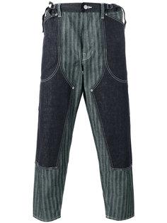 многослойные брюки в полоску Ganryu Comme Des Garcons
