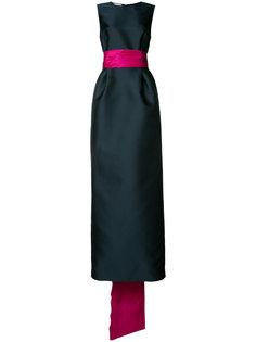 длинное вечернее платье Oscar de la Renta