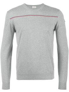трикотажный свитер с полосой Moncler
