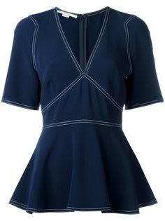 блузка-кимоно с контрастной строчкой Stella McCartney