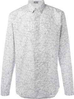 tangled lines print shirt  Dior Homme