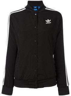 куртка-бомбер  с тремя полосками Adidas