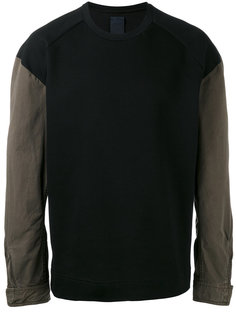 contrast sleeve sweatshirt Juun.J