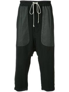 укороченные брюки на завязках Rick Owens