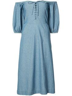 платье с открытыми плечами Sea