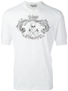 рубашка хенли с принтом Alexander McQueen