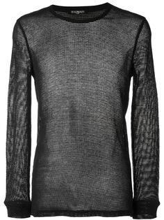 полупрозрачный свитер Balmain