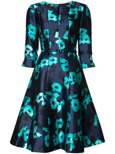 split neck A-line dress Oscar de la Renta
