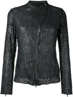 perforated jacket Salvatore Santoro