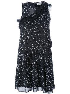 платье с оборками Carven