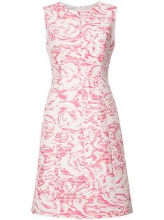 жаккардовое платье с цветочным узором Oscar de la Renta
