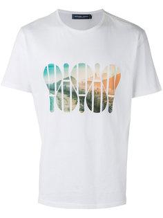 футболка с принтом восхода Frescobol Carioca