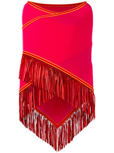 fringed trim cape  Antonia Zander