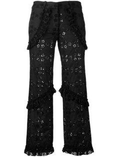 укороченные брюки с вышивкой Simone Rocha