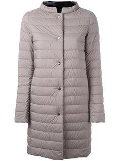 однобортное пальто-пуховик Herno