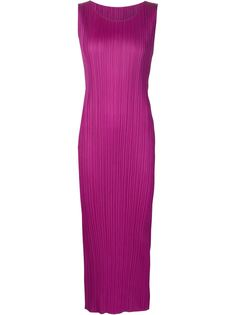 Плиссированное платье без рукавов Pleats Please By Issey Miyake