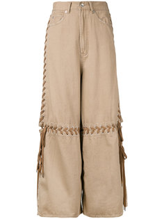 lace-up wide leg jeans  G.V.G.V.