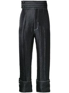 атласные брюки с отворотами G.V.G.V.