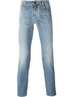джинсы с эффектом stone wash Fendi