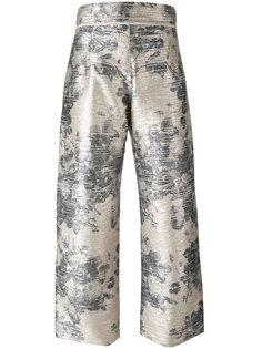 брюки с цветочным принтом Aviù