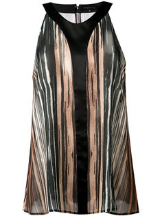 striped sheer tank Barbara Bui