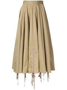 расклешенная юбка со шнуровкой G.V.G.V.