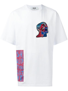 футболка с нашивкой MSGM