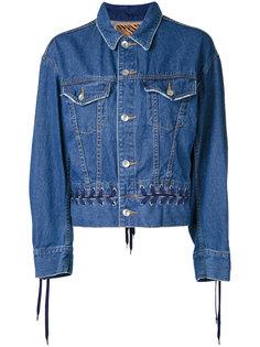 denim lace-up jacket  G.V.G.V.