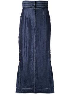 contrast stitch maxi skirt  G.V.G.V.