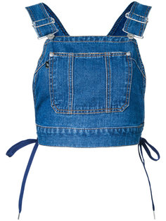 denim dungaree top  G.V.G.V.