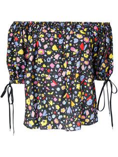 printed off shoulder blouse  G.V.G.V.