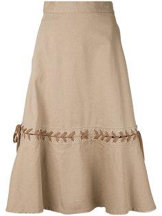 denim lace-up skirt  G.V.G.V.