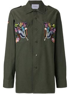 рубашка с вышивкой уток Forte Couture