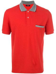 рубашка-поло с контрастной отделкой Fay