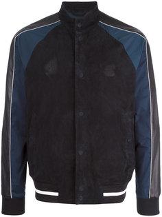 кожаная куртка-бомбер Emporio Armani
