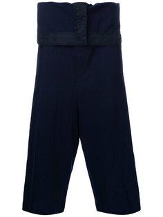 брюки с контрастными полосками   Maison Mihara Yasuhiro