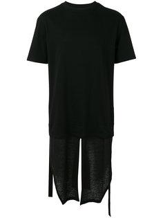 многослойная удлиненная футболка D.Gnak
