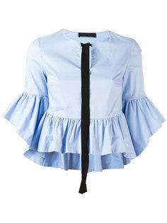 блузка с рюшами Christian Pellizzari