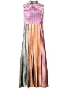 платье в клетку гингем Christopher Kane