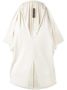 блузка с V-образным вырезом и шлицей спереди Plein Sud