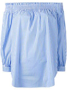 полосатая блузка с открытыми плечами Polo Ralph Lauren