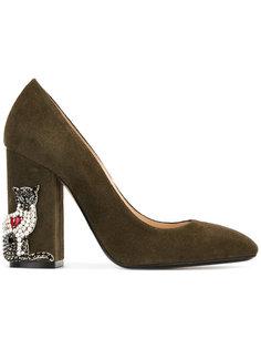 туфли-лодочки с аппликацией Nº21