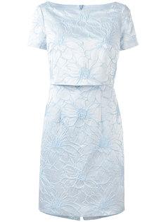 многослойное платье с цветочной вышивкой Blugirl