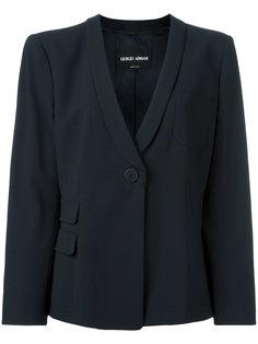 пиджак с застежкой на пуговицу Giorgio Armani